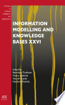 Information Modelling And Knowledge Bases Xxvi Book PDF