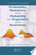 Probability  Statistics  and Reliability for Engineers and Scientists Book