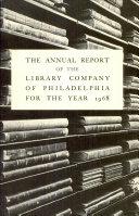 Pdf Library Company of Philadelphia: 1968 Annual Report