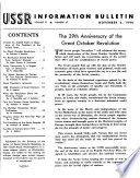 USSR Information Bulletin