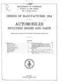 Census of Manufactures  1914