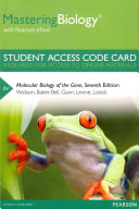 MasteringBiology with Pearson EText    Standalone Access Card    for Molecular Biology of the Gene