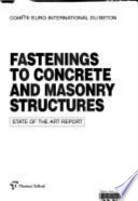 Fastenings to Concrete and Masonry Structures Book
