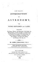An Easy Introduction to Astronomy for Young Gentlemen and Ladies