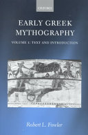 Early Greek Mythography  Texts