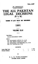 The All Pakistan Legal Decisions