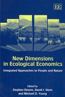 New Dimensions In Ecological Economics Book PDF