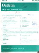 Bulletin Of The British Psychological Society