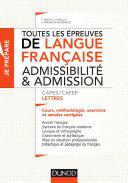 Pdf Toutes les épreuves de langue française - Admissibilité et admission - CAPES/CAFEP Lettres Telecharger