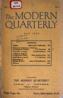 The Modern Quarterly Series
