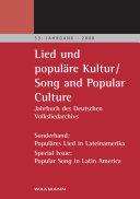 Lied und populäre Kultur Song and Popular Culture