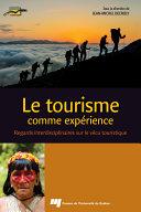 Pdf Le tourisme comme expérience Telecharger