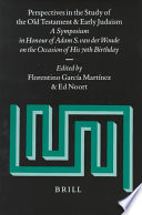 Perspectives In The Study Of The Old Testament And Early Judaism