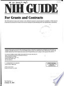 Nih Guide For Grants And Contracts Book PDF