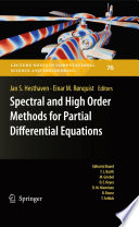 Spectral And High Order Methods For Partial Differential Equations Book PDF