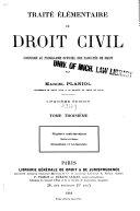 Traité élémentaire de droit civil: Régimes matrimoniaux. Successions. Donation et testaments