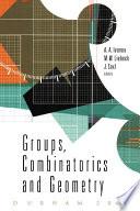 Groups  Combinatorics   Geometry
