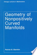 Geometry Of Nonpositively Curved Manifolds