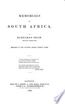 Memorials of South Africa Book