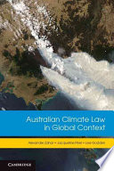 Australian Climate Law in Global Context Book