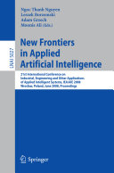 New Frontiers in Applied Artificial Intelligence