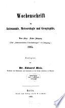 Wochenschrift für Astronomie, Meteorologie und Geographie