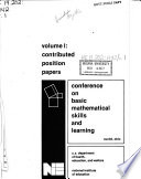 The NIE Conference on Basic Mathematical Skills and Learning