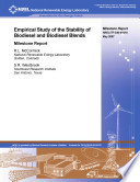 Empirical Study of the Stability of Biodiesel and Biodiesel Blends