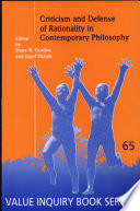 Criticism And Defense Of Rationality In Contemporary Philosophy