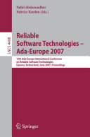 Reliable Software Technologies   Ada Europe 2007