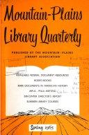 Mountain plains Library Quarterly
