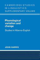 Phonological Variation and Change