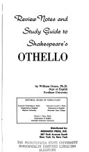 Review Notes and Study Guide to Shakespeare s Othello