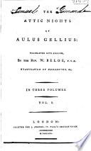 The Attic Nights of Aulus Gellius Book