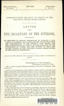 Correspondence Relating to Timber on the Chippewa Indian Reservations