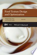 Food Texture Design And Optimization Book