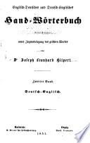 Englisch-Deutsches und Deutsch-Englisches Hand-Wörterbuch
