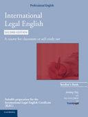 International Legal English Teacher s Book