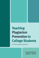 Teaching Plagiarism Prevention to College Students