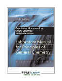 Laboratory Manual for Principles of General Chemistry 8th Edition Exp 18 for UMBC