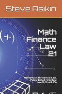 Math Finance Law 21