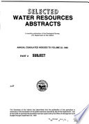 Selected Water Resources Abstracts Book