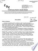 CDC Veterinary Public Health Notes