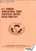 U S  Foreign Agricultural Trade Statistical Report