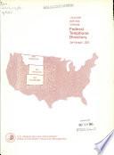 United States Government Telephone Directory Utah