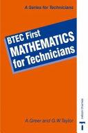 BTEC First Mathematics for Technicians