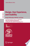 Design  User Experience  and Usability  Design Philosophy  Methods  and Tools
