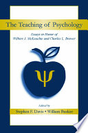 The Teaching of Psychology Book