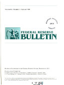 Federal Reserve Bulletin Book