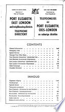 Port Elizabeth, East London and Neighboring Districts Telephone Directory